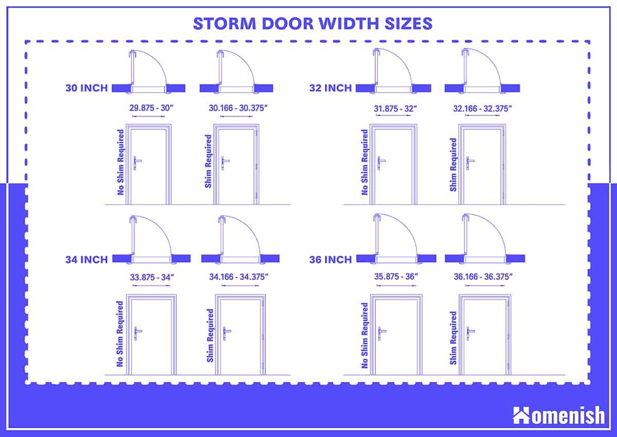Storm Door Width Sizes