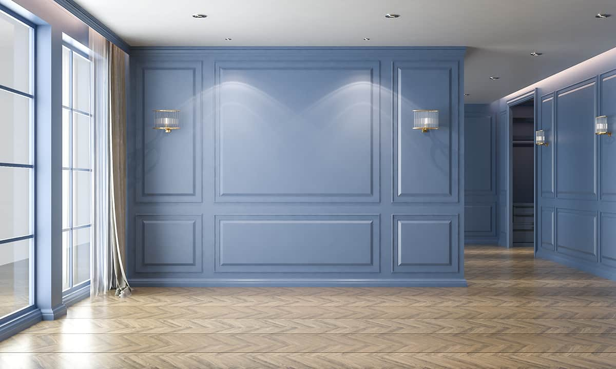 Wooden color and Periwinkle